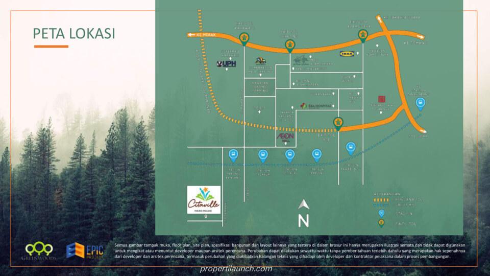 Peta Lokasi Citaville Parung Panjang