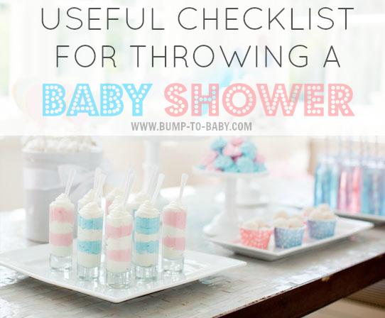 Checklist For Baby Shower - sample baby shower checklist