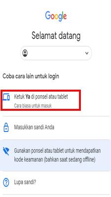 perintah untuk memeriksa ponsel anda. Silahkan klik ya