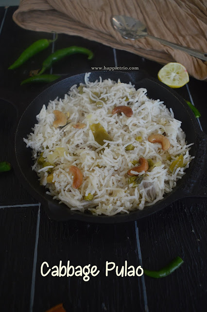 Cabbage Pulao Recipe | Cabbage Rice
