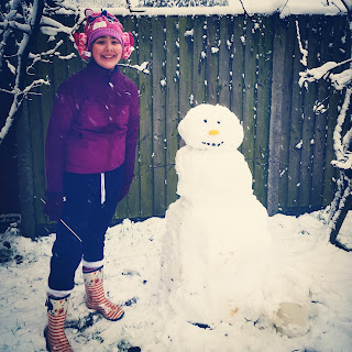 Top Ender with her Snowman