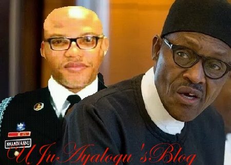 Biafra agitator, Nnamdi Kanu alleges 'real reason' Buhari travelled out of Nigeria