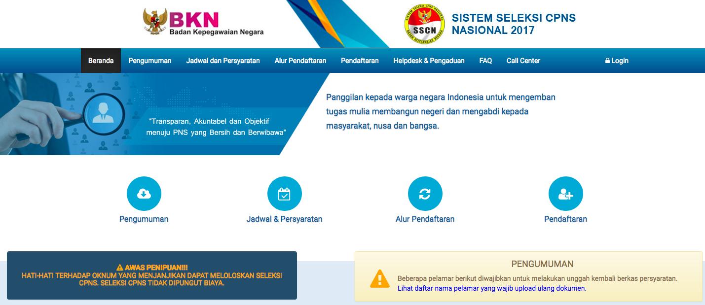 Cara Pendaftaran Online Cpns Sscn Bkn Go Id