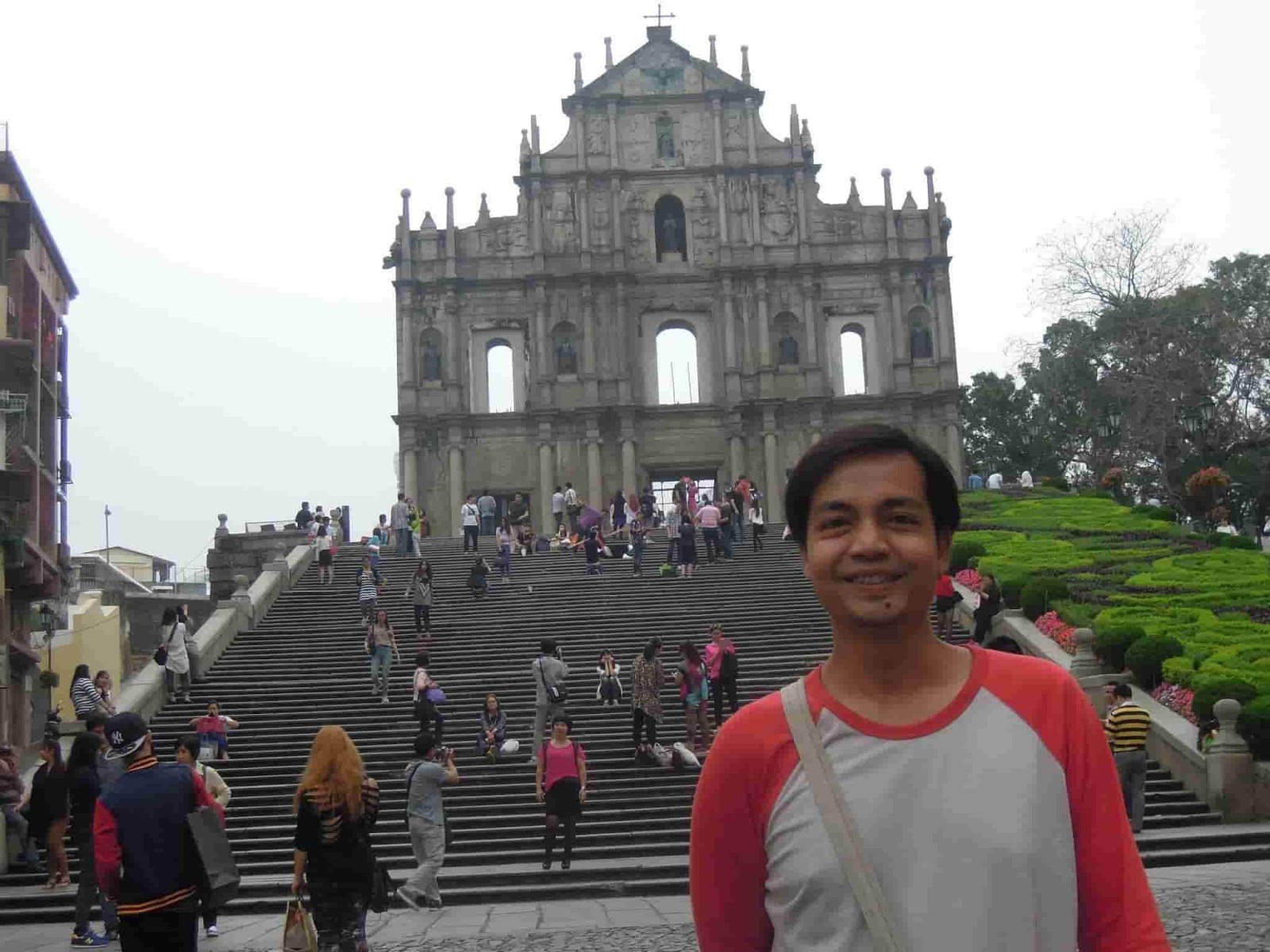 A picture at the well-known Ruins of St. Paul's in Macau