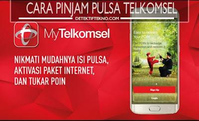 cara pinjam pulsa telkomsel tanpa biaya