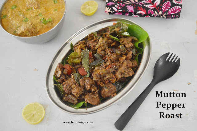 Mutton Pepper Roast Recipe | Mutton Milagu Varuval
