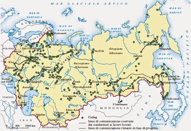 Cartina Urss.Solzenicyn Aleksandr Arcipelago Gulag Aprile 2014