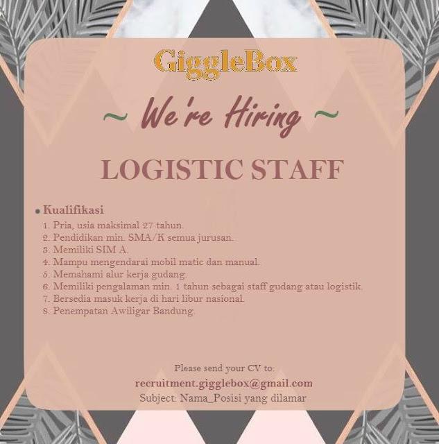 lowongan kerja Logistic Staff Giggle Box