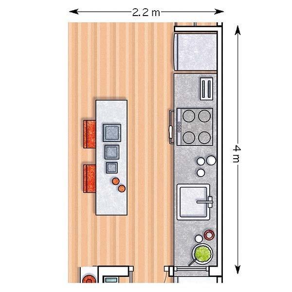 Decotips distribuir la cocina seg n su geometr a for Como hacer un plano de una cocina