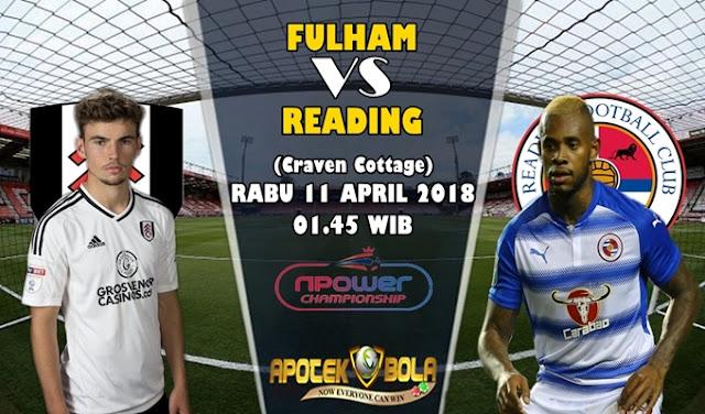 Prediksi Fulham vs Reading 11 April 2018