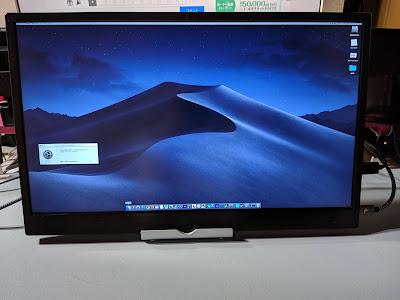 cocoparモバイルモニター写真 Macと接続
