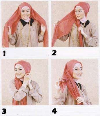Gambar Cara Memakai Jilbab Segitiga Mudah Banget  CARA