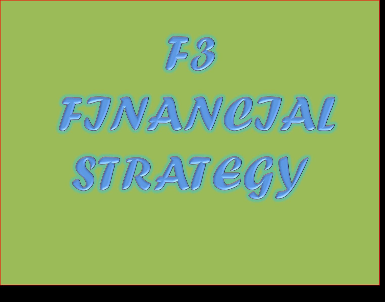 CIMA F3 - FINANCIAL STRATEGY Resources - Study CIMA