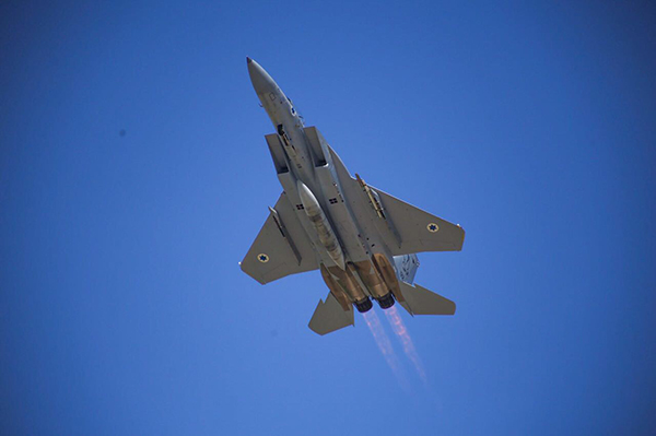 FIRST FLIGHT OF RECONSTRUCTED ISRAELI F15