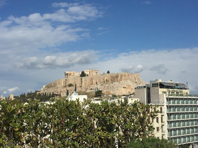 A VIEW OVER ACROPOLIS FROM A ROOF TOP