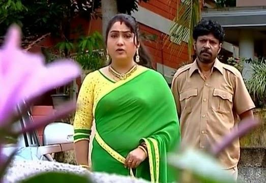Yamuna Malayalam Serial Actress Hot Photos In Green Saree