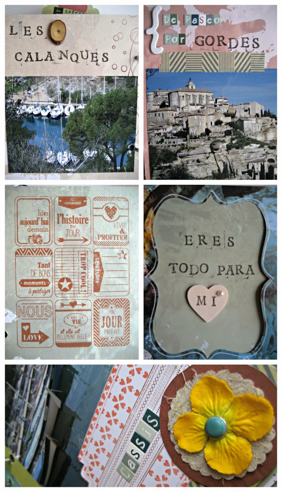 Mini álbum scrapbooking viaje / travel scrapbook album / Mini album voyage