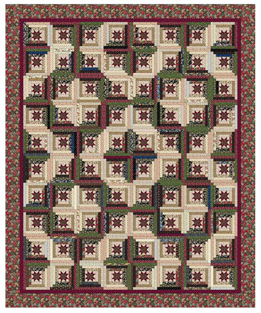 Running Around the Cabin Quilt Free Pattern designed by Bethany Fuller of Grace's Dowry Quilts