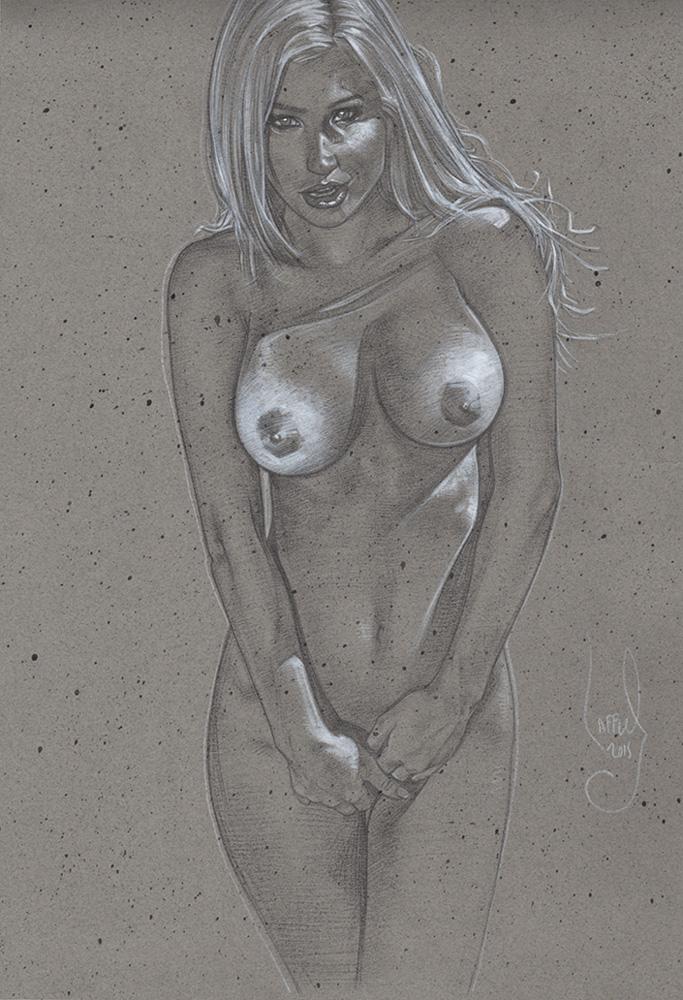 Eye Candy Nude Drawing © JEFF LAFFERTY 2015