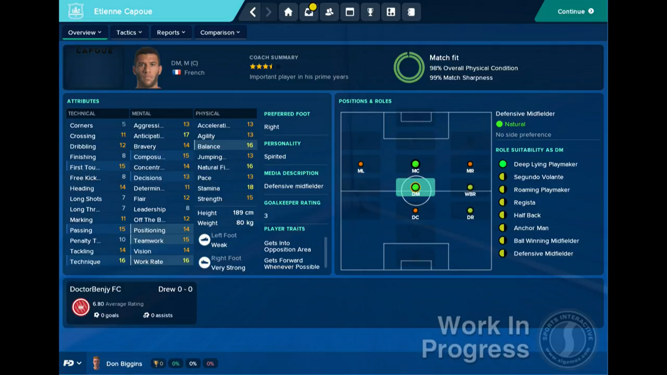 Football manager 2018 fantasy draft fm18 fm18 fantasy draft player profile screen fandeluxe Image collections