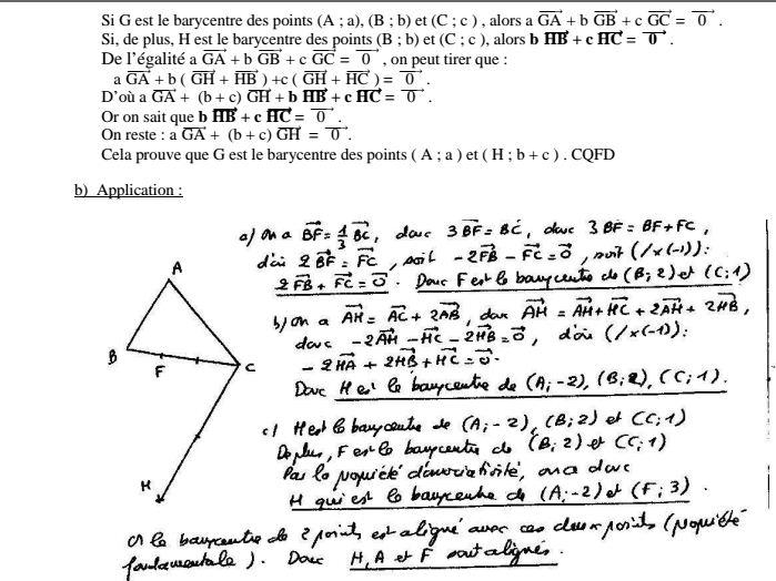 4 exercices corrig es barycentre secondaire cours des for Assainissement cours pdf