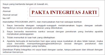 Pakta Integritas Program JARTI/ Pengajar Pengganti 2018