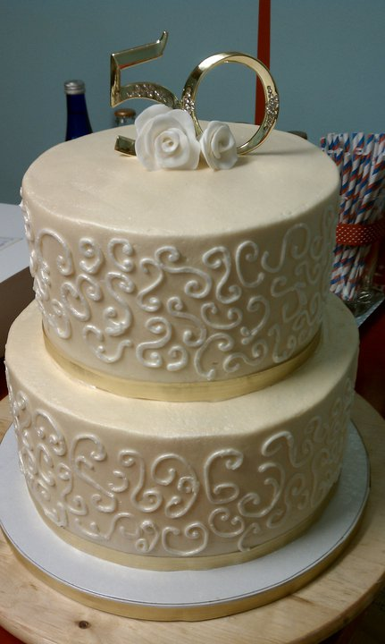 cake hope and love 50th wedding anniversary cake. Black Bedroom Furniture Sets. Home Design Ideas