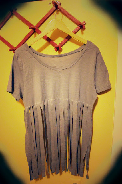 Do It Yourself Do It Better Knotted Fringe Tee