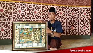 Seniman Kaligrafi Kubah Masjid Itu Ternyata Asli Brakas