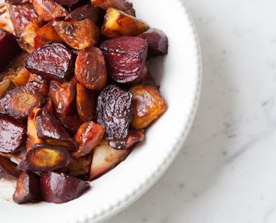 Chocolate and Balsamic Glazed Roasted Vegetables Recipe