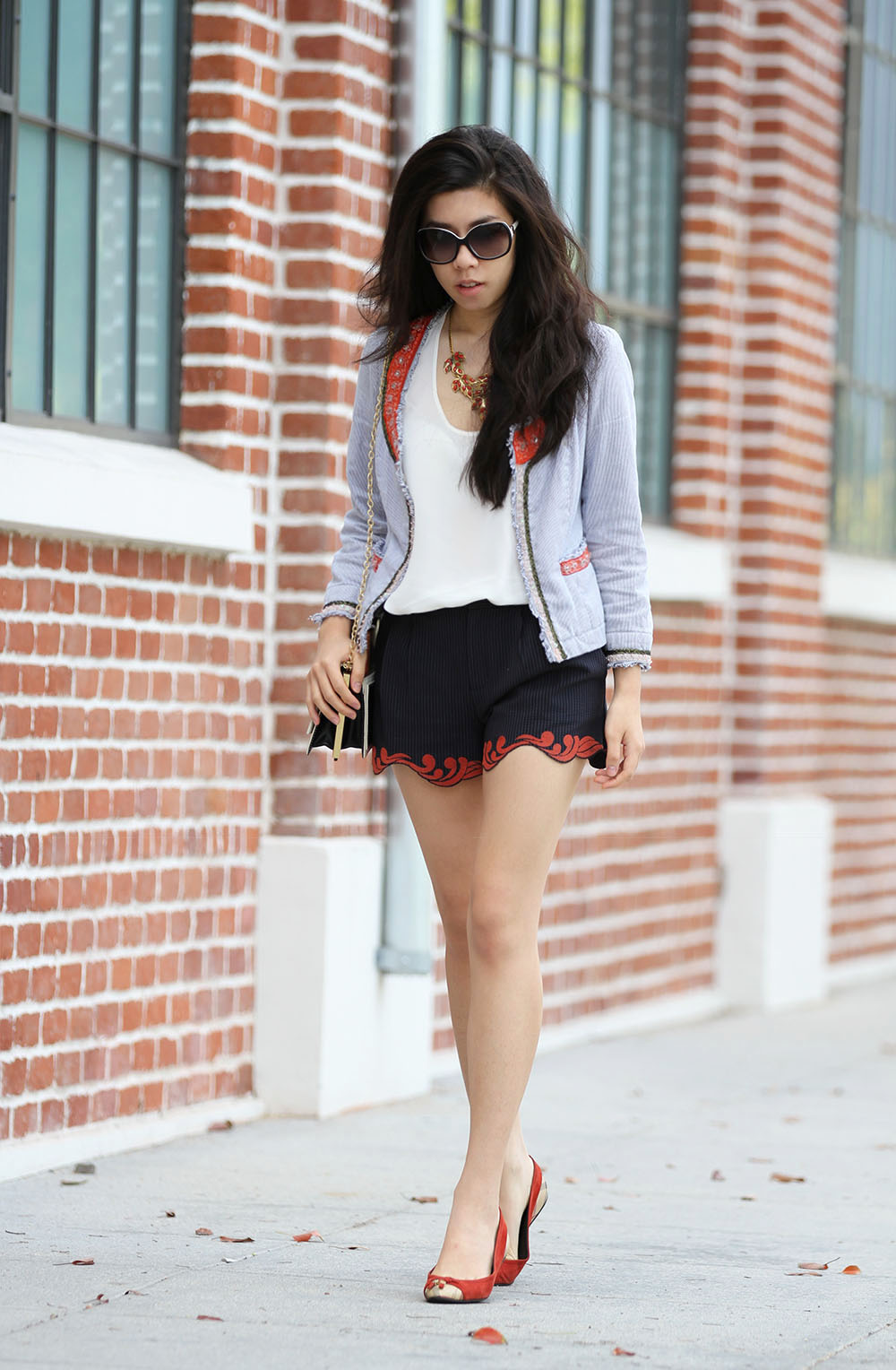 Free People Beaded Jacket_Scallop Shorts_Classy Elegance_Adrienne Nguyen_INvictus