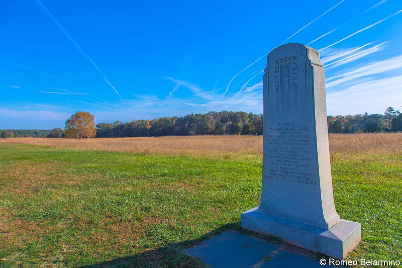 General Barnard Elliott Bee Monument Manassas National Battlefield Park Northern Virginia