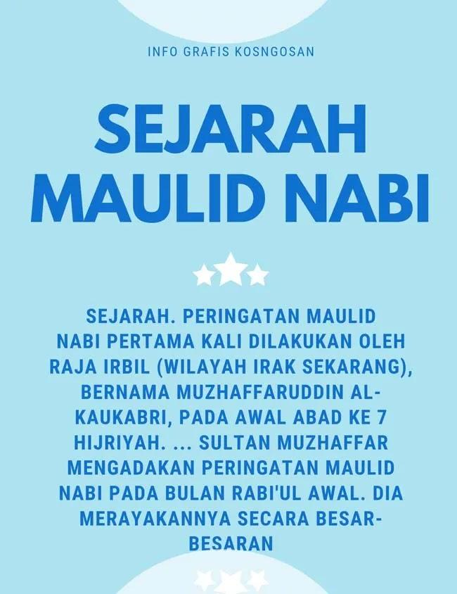 infografis sejarah maulid nabi