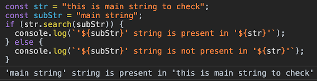 JavaScript check string contains in string or not