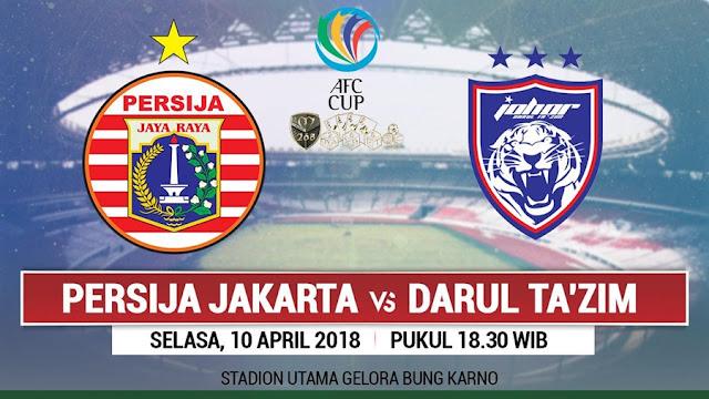 Prediksi Persija Jakarta Vs Johor Darul Takzim, Selasa 10 April 2018 Pukul 18.30 WIB