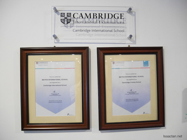 Certified with Cambridge International School