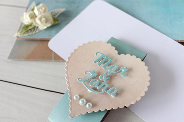 kartka w formie kopertówki