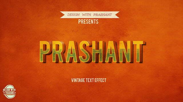 PHOTOSHOP RETRO/VINTAGE TEXT EFFECT | DESIGN WITH PRASHANT