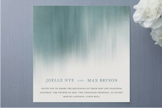 Ombre Wedding Invitation: Platinum Touch Events: Trend Alert: Ombre