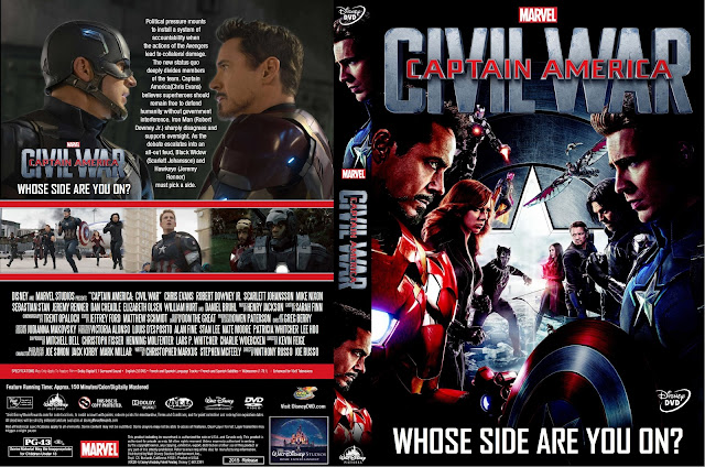 Captain America Civil War DVD Cover