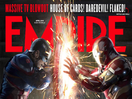 Así luce la portada de Empire protagonizada por Iron Man y Capitán América
