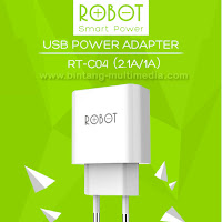 Charger Adaptor Robot RT-C04 Dual USB 2 Output 2.1A 1A by Vivan