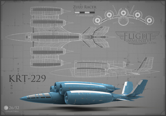 Flight Immunity by Denis Kozlov: collectible aircraft art with a steganographic twist (www.flightimmunity.com)