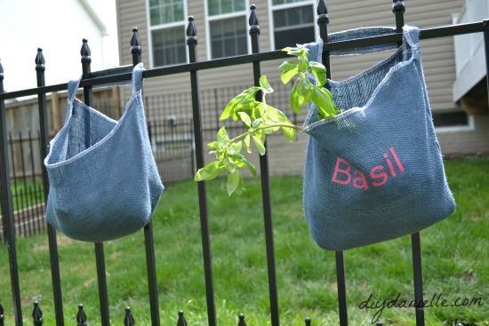 DIY hanging herb bags