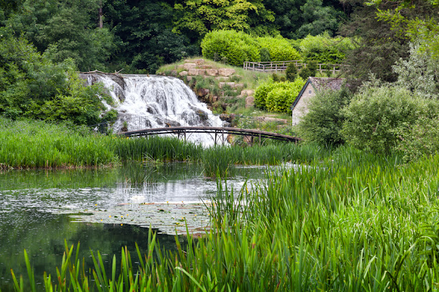 Cascades on the river Glym that runs through Blenheim Palace gardens by Martyn Ferry Photography