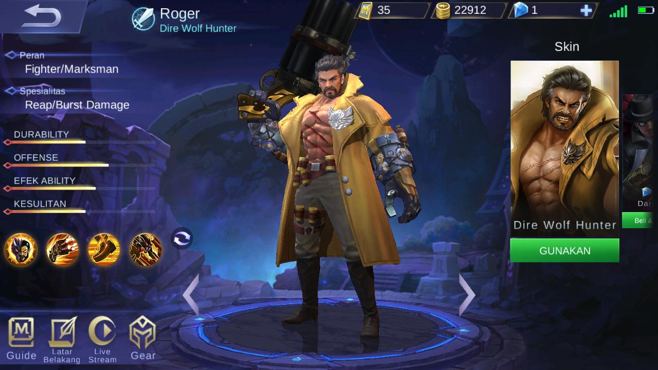 Guide Roger Mobile Legends: Serigala Pemburu Yang