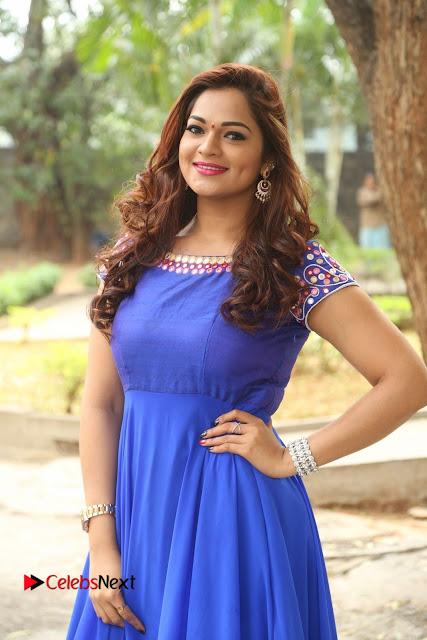 Actress Ashwini Stills in Blue Chudidar at Ameerpet Lo Release Press Meet  0001.JPG