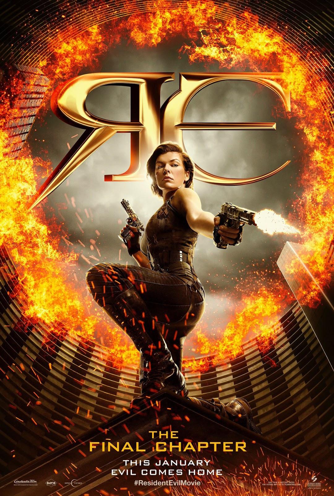 Revelado el póster de 'Resident Evil: El capítulo final'