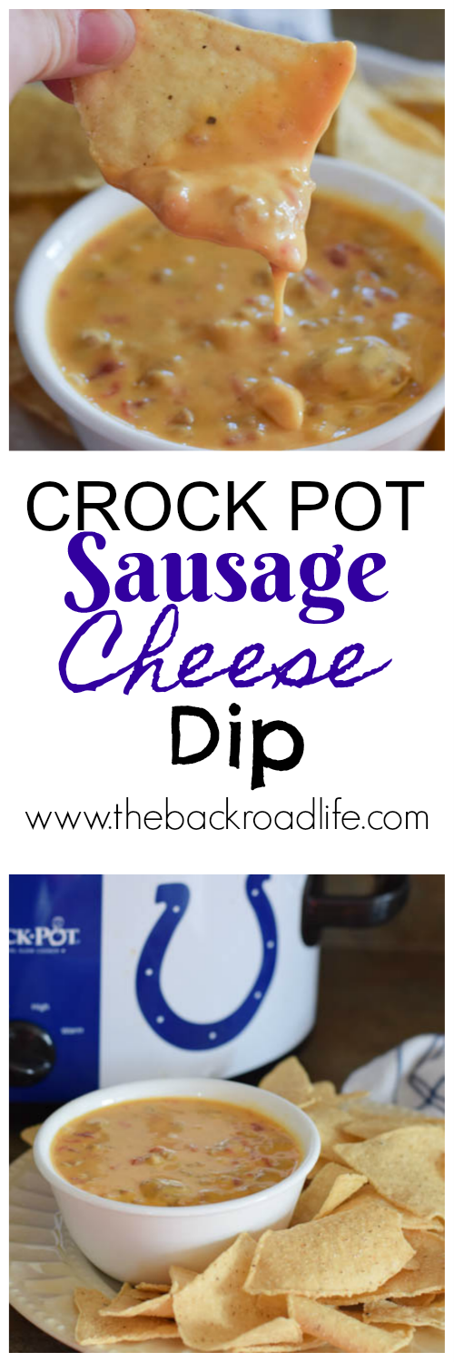 Crock Pot Sausage Cheese Dip. A delicious 3 ingredient crock pot chip dip