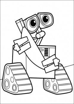 walle the movie coloring pages-#1